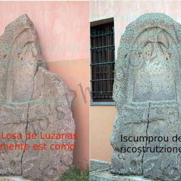 """La stele trovata ad Ozieri in località """"Luzzanas"""""""